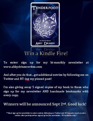 Kindle Fire Contest flyer